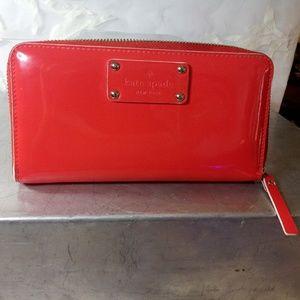 KATE SPADE blood orange wallet